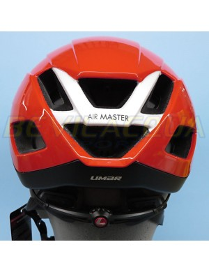 LIMAR: Casco AIR MASTER rosso (retro)
