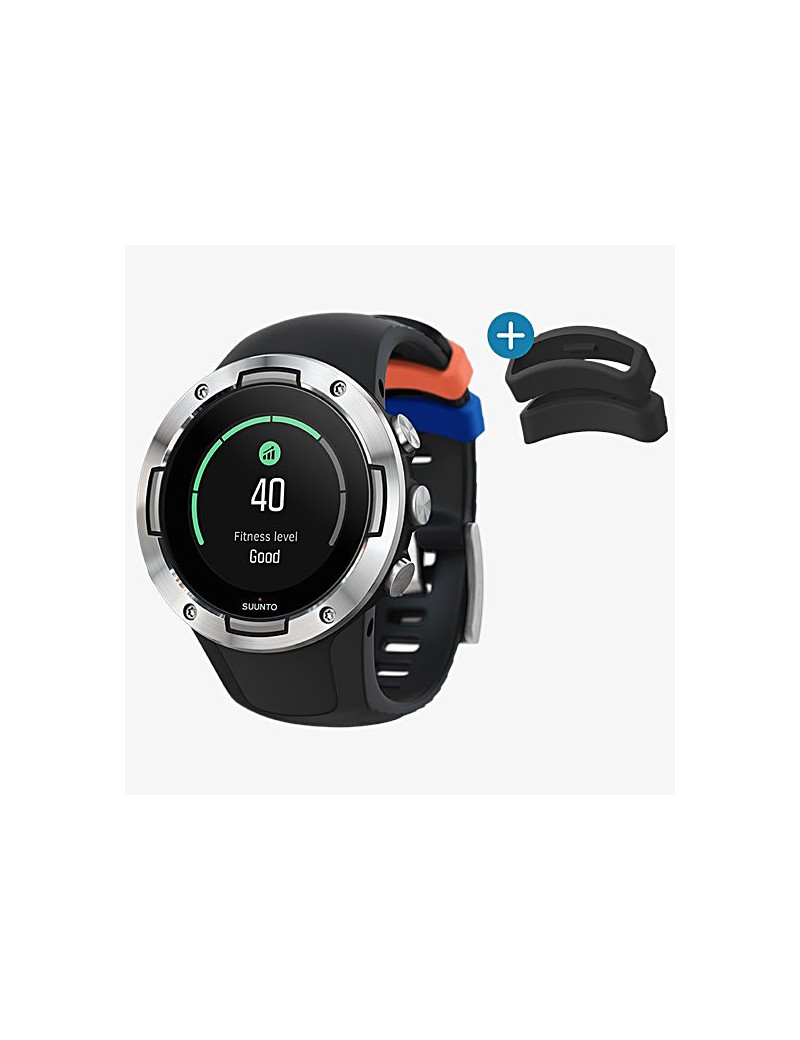 Suunto 5 black steel (lato + loops)