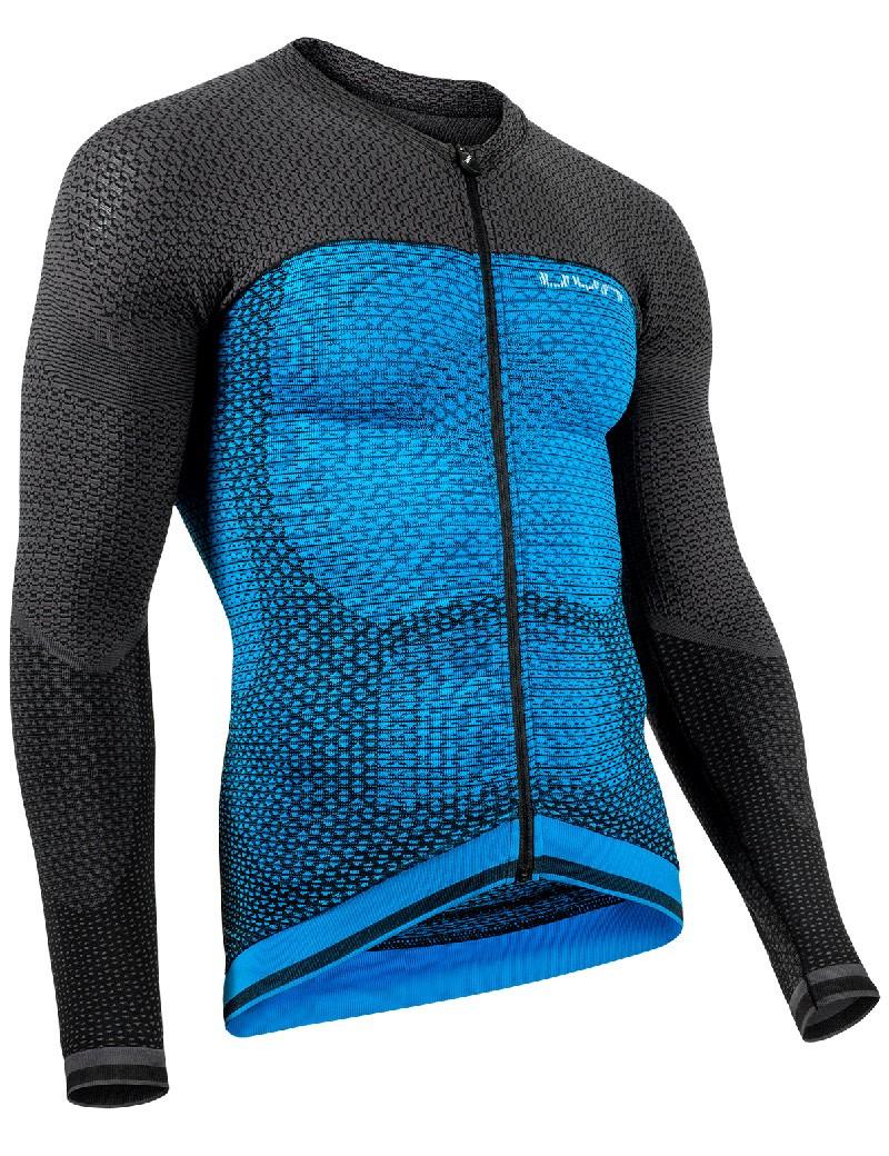 UYN ALPHA maglia biking manica lunga blu-grigio