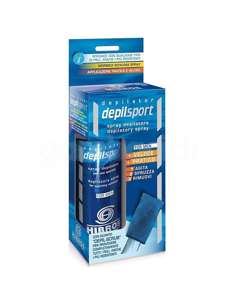 HIBROS: DepilSport 200ml + Guanto Depil-Scrub